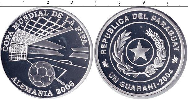 Картинка Монеты Парагвай 1 гарани Серебро 2004