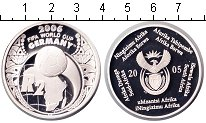 Изображение Монеты ЮАР 2 ранда 2005 Серебро Proof