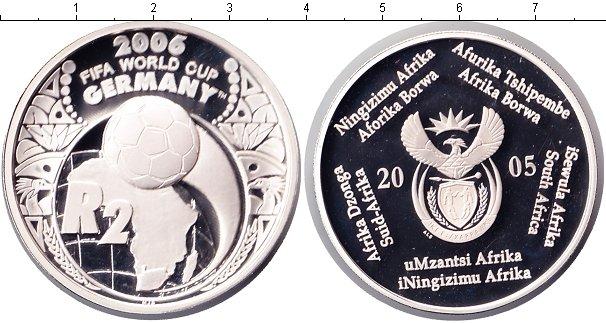 Картинка Монеты ЮАР 2 ранда Серебро 2005