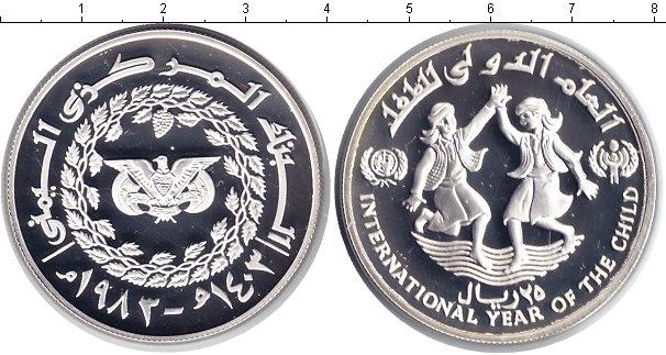 Картинка Монеты Йемен 25 риалов Серебро 1983