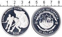 Изображение Монеты Либерия 20 долларов 2000 Серебро Proof- XXVII Олимпийские иг