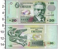 Изображение Банкноты Уругвай 20 песо 2011  UNC-
