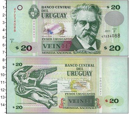 Картинка Банкноты Уругвай 20 песо  2008