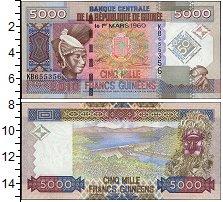 Изображение Банкноты Гвинея 5.000 франков 2010  UNC Женский портрет, тра