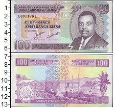 Изображение Банкноты Бурунди 100 франков 2010  UNC Портрет Л. Руагасоре
