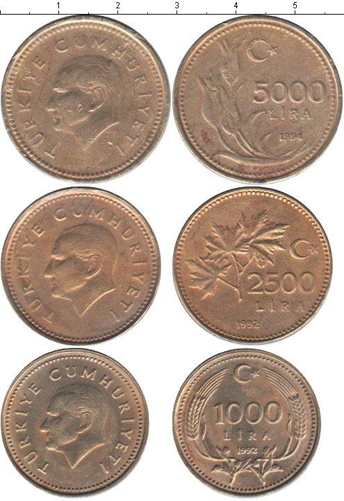 Картинка Наборы монет Турция Турция 1992-1994  0