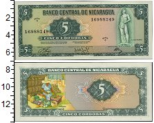Изображение Банкноты Никарагуа 5 кордоба 1972  UNC