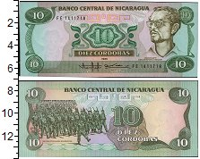 Изображение Банкноты Никарагуа 10 кордоба 1985  UNC