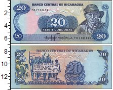 Изображение Боны Никарагуа 20 кордоба 1985  UNC