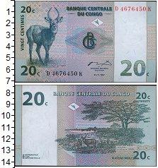 Изображение Банкноты Конго 20 сентим 1997  UNC