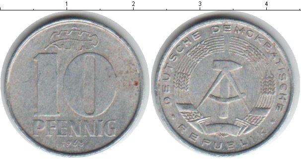 Картинка Барахолка ГДР 10 пфеннигов  1968