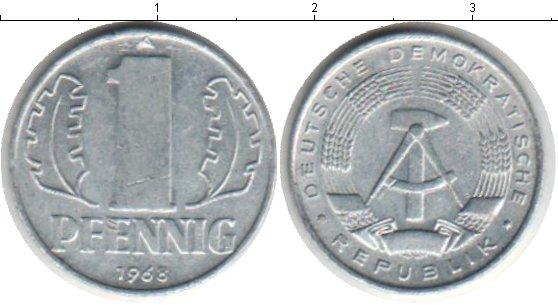 Картинка Барахолка ГДР 1 пфенниг  1968