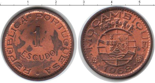 Картинка Монеты Мозамбик 1 эскудо Медь 1968