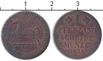 Изображение Монеты Брауншвайг-Вольфенбюттель 1 пфенниг 1833 Медь VF