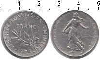 Изображение Барахолка Франция 1 франк 1974 Медно-никель XF