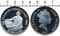 Изображение Монеты Острова Кука 50 долларов 1991 Серебро Proof- 500-летие открытия А