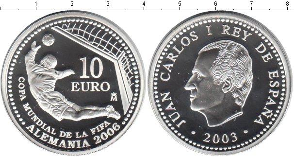 Картинка Монеты Испания 10 евро Серебро 2003