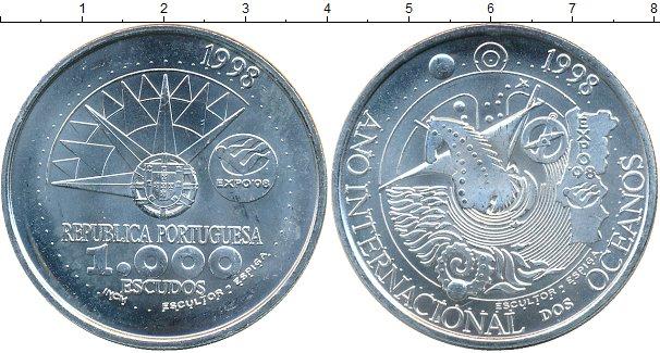Картинка Монеты Португалия 1.000 эскудо Серебро 1998