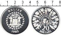 Изображение Монеты Белиз 20 долларов 1985 Серебро Proof-