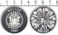 Изображение Монеты Белиз 20 долларов 1985 Серебро Proof- Декада женщин