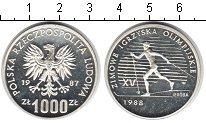 Изображение Монеты Польша 1000 злотых 1987 Серебро Proof- Зимнияя Олимпиада 19