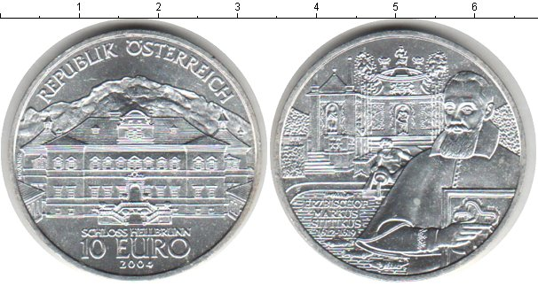 Картинка Монеты Австрия 10 евро Серебро 2004