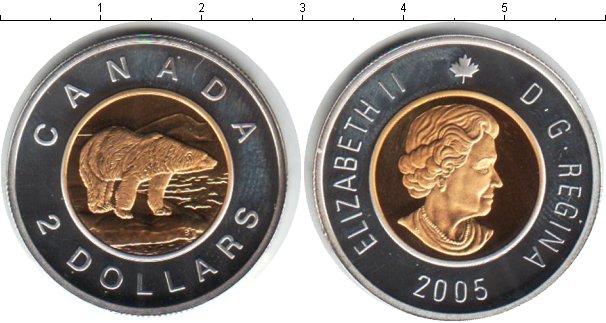 Картинка Монеты Канада 2 доллара Биметалл 2005