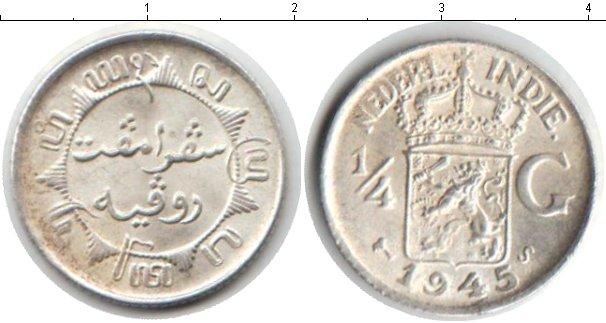 Картинка Монеты Нидерландская Индия 1/4 гульдена Серебро 1945