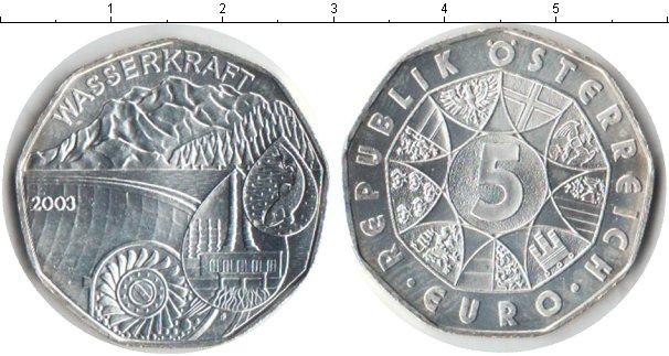 Картинка Монеты Австрия 5 евро Серебро 2003