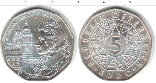 Картинка Монеты Австрия 5 евро Серебро 2006