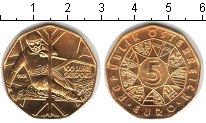 Изображение Монеты Австрия 5 евро 2005 Серебро UNC 100-летие лыжного сп