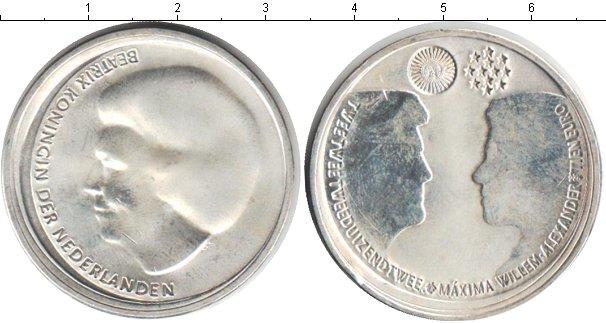Картинка Монеты Нидерланды 10 евро Посеребрение 2002