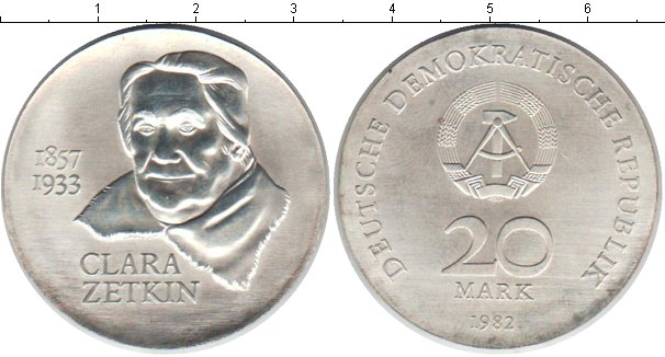 Картинка Монеты ГДР 20 марок Серебро 1982
