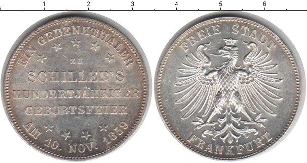 Картинка Монеты Франкфурт 1 талер Серебро 1859