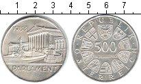Изображение Монеты Австрия 500 шиллингов 1983 Серебро XF Парламент.