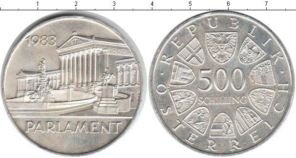 Картинка Монеты Австрия 500 шиллингов Серебро 1983