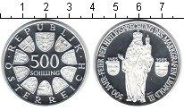 Изображение Монеты Австрия 500 шиллингов 1985 Серебро Proof- Леопольд III