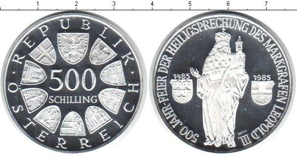 Картинка Монеты Австрия 500 шиллингов Серебро 1985