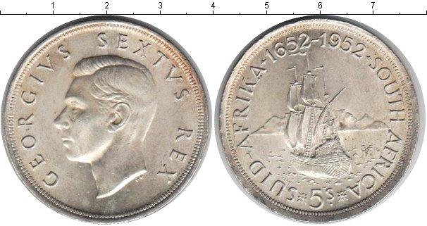 Картинка Монеты ЮАР 5 шиллингов Серебро 1952