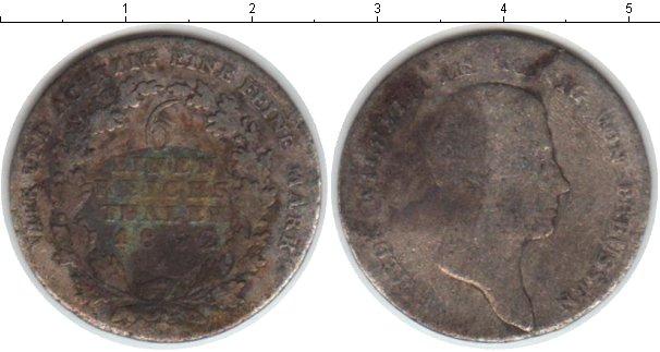 Картинка Монеты Пруссия 1/6 талера Серебро 1822