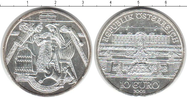 Картинка Монеты Австрия 10 евро Серебро 2003