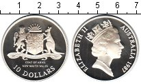 Изображение Монеты Австралия 10 долларов 1987 Серебро Proof- Елизавета II