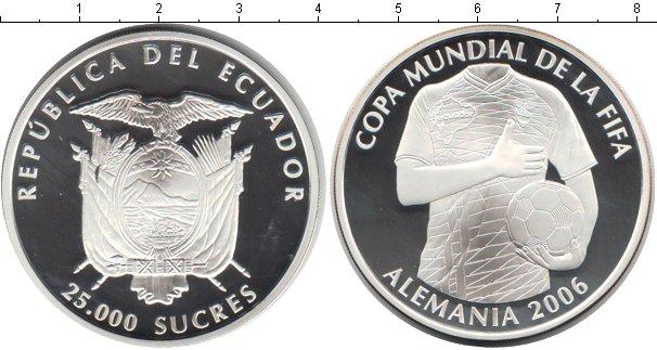 Картинка Монеты Эквадор 25.000 сукре Серебро 2006