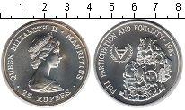 Изображение Монеты Маврикий 25 рупий 1982 Серебро UNC- Елизавета II