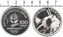 Изображение Монеты Франция 100 франков 1990 Серебро Proof- Олимпийские игры 199