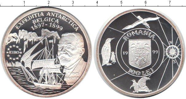 Картинка Монеты Румыния 100 лей Серебро 1999