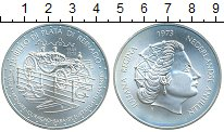 Изображение Монеты Антильские острова 25 гульденов 1973 Серебро UNC Юлиана.