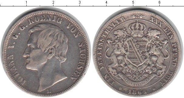 Картинка Монеты Саксония 1 таллер Серебро 1864