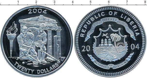 Картинка Монеты Либерия 20 долларов Фарфор 2004