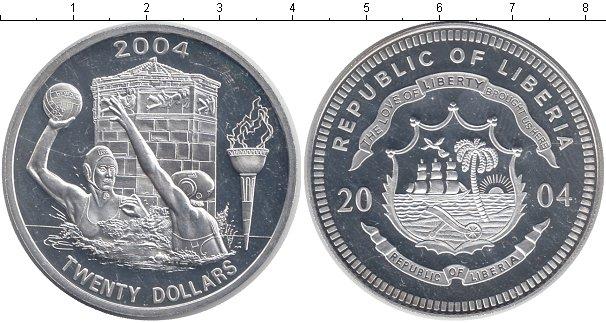 Картинка Монеты Либерия 20 долларов Серебро 2004
